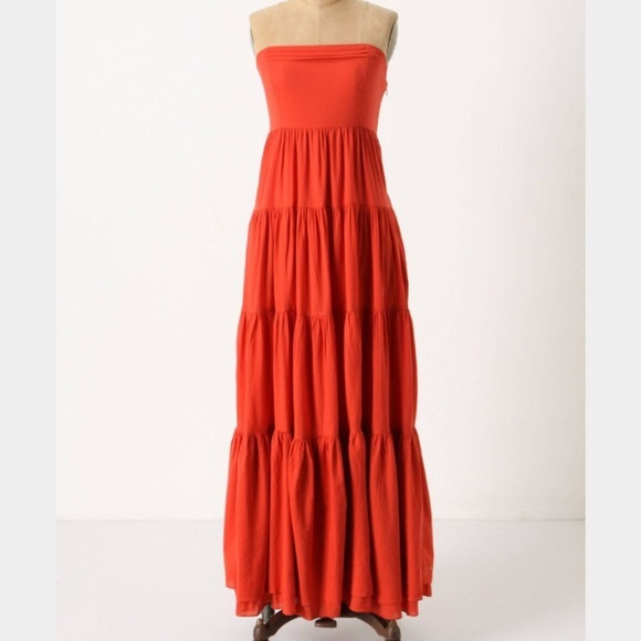 Anthropologie Dresses & Skirts - ANTHROPOLOGIE EDME & ESYLLTE Orange Maxi Dress SZ2